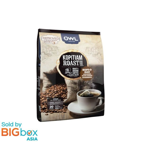 OWL Kopitiam Roast & Ground Coffee 400g (20g x 20's) - Kopi O Gao