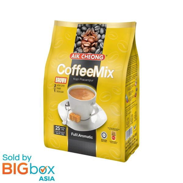 AIK CHEONG Coffee Mix 3in1 500g (20g x 25 sachets) - Brown